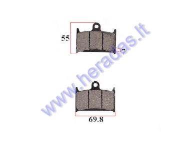 Brake pads for motocycle SUZUKI GSF, GSX-R, RF 600/900/1200 1994-