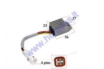 VOLTAGE REGULATOR RECTIFIER 4 PINS FOR MOTOCYCLE Beta, KTM 125-660CC EXC, SX, MXC 125, 200,250,300,400,450,525,530,660
