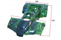 Plastic cover kit for ATV quad bike fit to model TREX