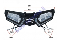 FRONT GRILL FOR ATV QUAD BIKE with lights fit to model TREX