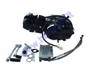 Four-stroke engine for LIFAN  150cc 4 gear air, oil cooled with colector, kick start lever. Piston D56 1P56FMI