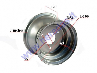 Rim 7 inch (7″) for ATV quad bike