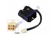 Voltage regulator 4 pin for ATV quad bike