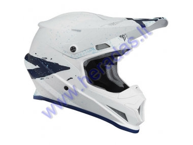 MOTORCYCLE CROSS HELMET THOR THOR White/Blue S8S SECTOR HYPE HELMET