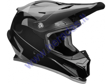 MOTORCYCLE CROSS HELMET THOR SHEAR BLACK/CHARCOAL S9 SECTOR  HELMET