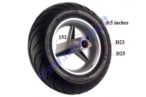 Front wheel for mini motorcycle