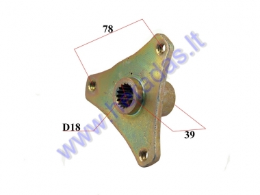 Rear wheel hub 3 hole for ATV quad bike