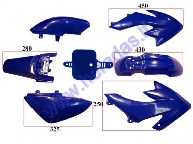 Plastic cover set for motorcycle 125-150cc