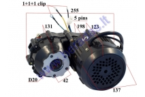 ELECTRIC TRIKE SCOOTER ENGINE WITH TRANSMISSION GEARBOX 60V   MS03 SINE WAWE 12 tube fits with suitable controler