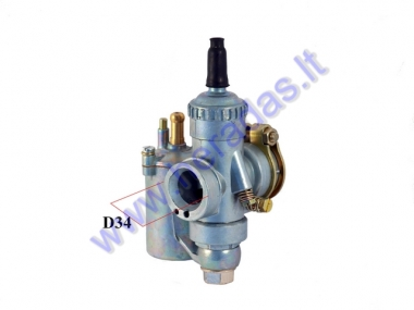 CARBURETOR FOR MOPED, MOTOCYCLE WSK 125, D34