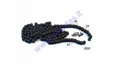 CHAIN for MOTORCYCLE TYPE 520 ROLLER 10  118 LINK  JTC520X-118 X-Ring
