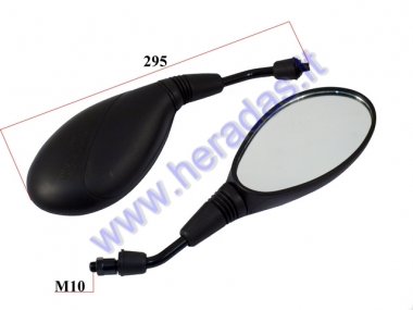 Mirrors for scooter, motocycle 2pc. set M10, right thread