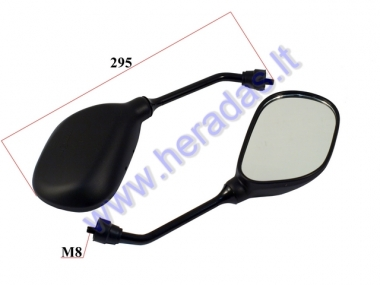 Mirrors for scooter motocycle 2 pc set M8, right thread