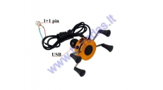 Universal phone/GPS steering wheel mount with USB connection 5V 2A