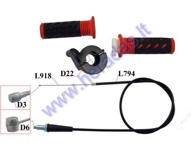 Rubber motorcycle handlebar grip for throttle