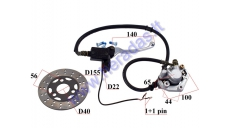 RIGHT SIDE BRAKE LEVER WITH FRONT BRAKE CALIPER, BRAKE HOSE and brake disk for MOTOR SCOOTER GY6 50cc 10col wheels