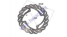 REAR BRAKE DISC FOR 125/150CC MOTORCYCLE, FIT TO MOTOLAND MTL250