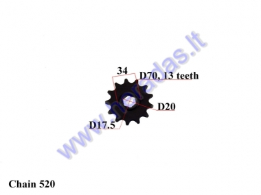 FRONT SPROCKET 13 TEETH 520 CHAIN DOut70  Din 20 fits MOTOLAND MTL250
