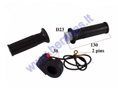 RUBBER HANDLEBAR GRIP SET FOR MOTORCYCLE POCKET BIKE WITH SWITCH