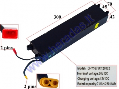 LITHIUM-ION BATTERY FOR ELECTRIC KICK SCOOTER 36V  7.8Ah FOR MODEL ELESMART3
