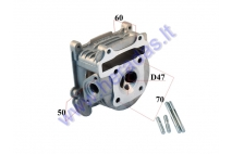 CYLINDER HEAD FOR SCOOTER 70cc 4T GY6 47mm