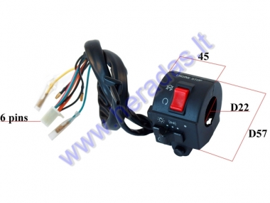 HANDLEBAR SWITCH ASSEMBLY FOR ATV QUAD BIKE LIGHTS/ENGINE STOP/STARTER RIGHT SIDE 6+4+2PIN
