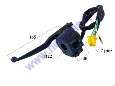 HANDLEBAR SWITCH ASSEMBLY FOR SCOOTER LIGHTS/SIGNAL/TURN LIGHTS, WITH HANDLEBAR 7+1PIN