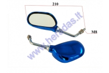 MIRROR 2PC SET FOR SCOOTER, MOTOCYCLE M8, RIGHT THREAD