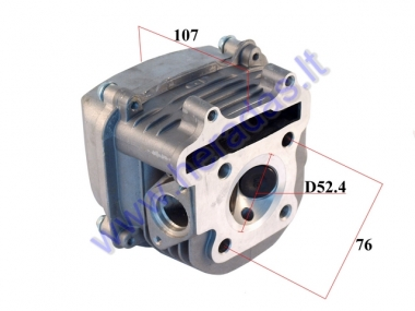 Cylinder head full assembly for scooter GY6 125cc D52.4