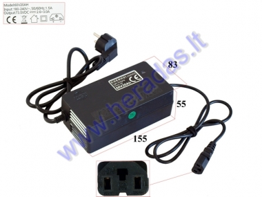 48 V Lead-acid battery charger for electric trike scooter