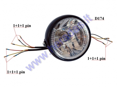 Headlights with turnlights universal 12V