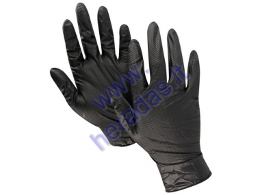 Grippaz Gloves size 10 XL 50pcs per pack black collor