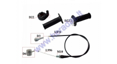 GRIPS FOR MOTOCYCLE 200-250cc WITH Accelerator housing and cable L100