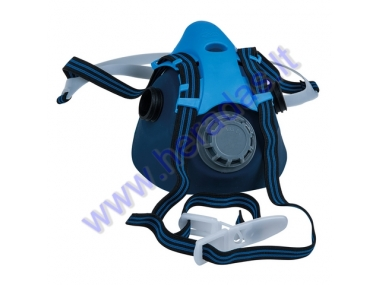 Half mask, respirator with valve without gas and combined filter. KST 985.1117