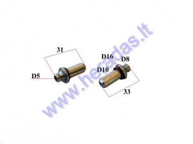 ENGINE VALVE GUIDE 2PC GY6 125cc