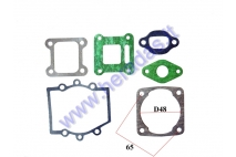 ENGINE GASKET SET 50CC ATV 50cc 2-Stroke engine