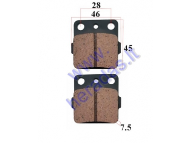 BRAKE PADS FOR ATV QUAD BIKE Yamaha, Kawasaki, Suzuki, Honda, Arctic Cat FA84 NHC