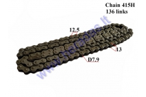 CHAIN FOR 50-80cc MOTORCYCLE-MOPED ROLLER 7,9 L136  CHAIN TYPE 415