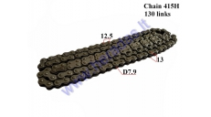 CHAIN FOR 50-80CC MOTORCYCLE-MOPED ROLLER 7,9 L130 CHAIN TYPE 415