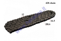Chain 250cc FOR ATV QUAD BIKE Roller8,6 L142  428 type