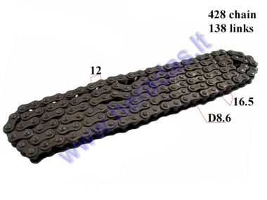 CHAIN 250CC FOR ATV QUAD BIKE ROLLER8,6 L138 428 TYPE