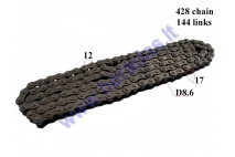CHAIN 250CC FOR ATV QUAD BIKE ROLLER8,6 L144 428 TYPE