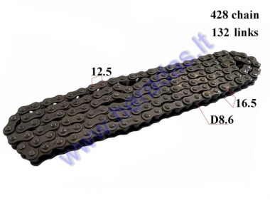 CHAIN 50-250cc FOR ATV QUAD BIKE 428 L132