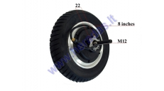 REAR WHEEL WITH MOTOR FOR ELECTRIC TRIKE SCOOTER, MOBILITY SCOOTER DL3 LIGHT