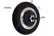 REAR WHEEL WITHOUT MOTOR FOR ELECTRIC TRIKE SCOOTER, MOBILITY SCOOTER DL3 LIGHT