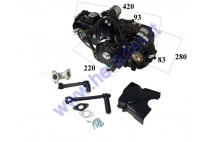 FOUR-STROKE MOTORCYCLE ENGINE  LIFAN  110cc 4 Gears, air cooled. Chain type 420 PISTON D52.4 1P52FMH-B