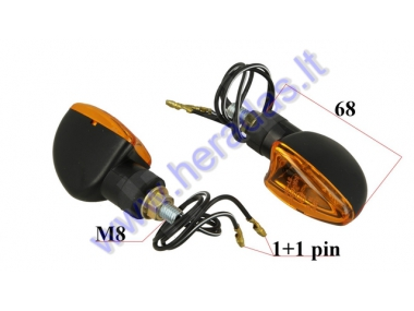 TURN SIGNAL LIGHT FOR MOTOCYCLE 2 vnt set,  H21W