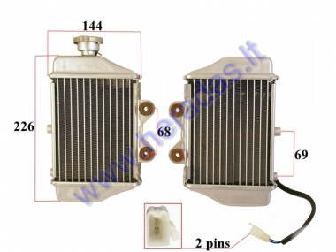 Engine cooling radiator for motorcycle