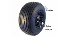 ELECTRIC MOTOR SCOOTER ELECTRIC MOTOR WHEEL, FOR CITYCOCO,  ES8004 with tyre 60V 1500W 18x9.5-8 225/55-8