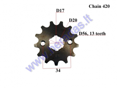 FRONT SPROCKET 13 teeth  D56 OUTER  20D inner gr7.7 FOR ATV QUAD BIKE 420-13
